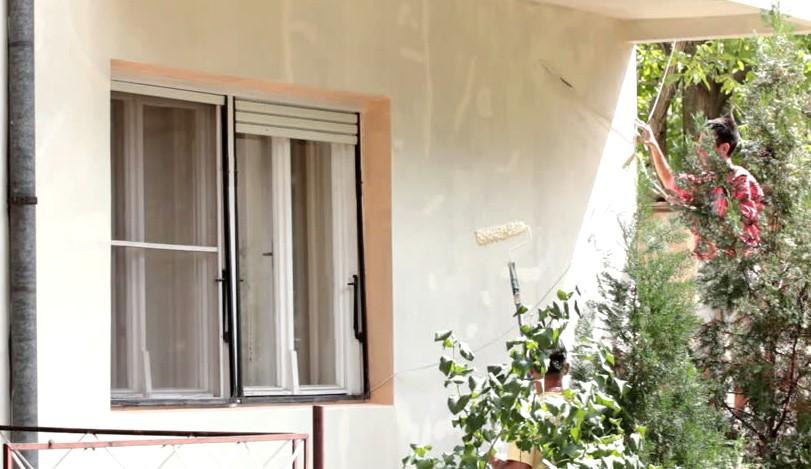 Окрашивание фасада идёт полным ходом - otdelat.ru