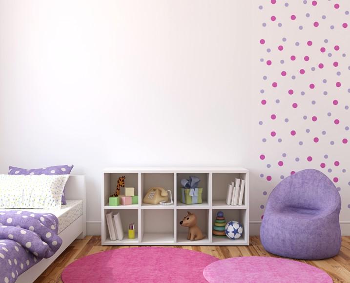 В детской можно также использовать такой вариант оформления стен - otdelat.ru