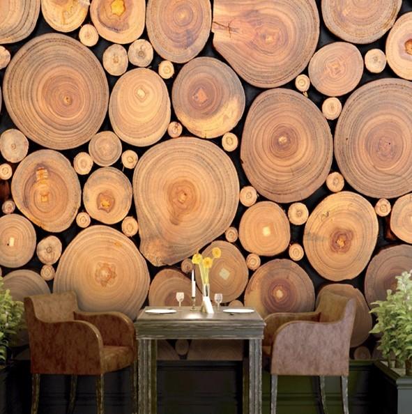 Фотообои под дерево - реалистичны и притягательны, подобный рисунок сделает любую комнату приятнее - otdelat.ru