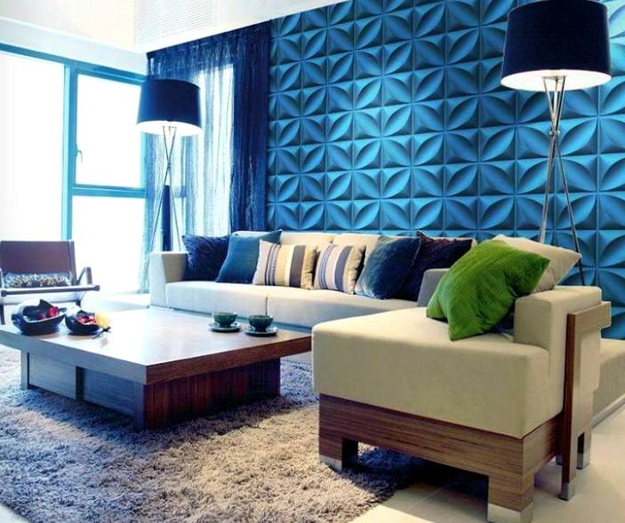 Прекрасный вариант оформления для гостиной - отделка смотрится роскошно - otdelat.ru