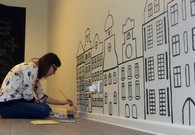 Уникальный рисунок на стенах в комнате - прекрасный способ самовыражения - otdelat.ru