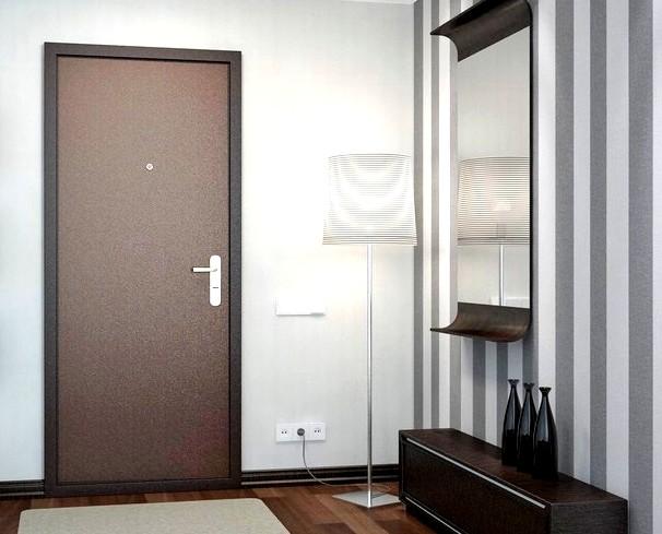 Отделка входной металлической двери