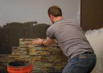 Как отделать цоколь искусственным камнем