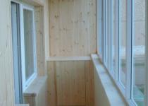Отделка балкона МДФ панелями - красиво и просто