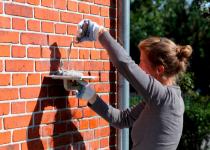 Заделка трещин в кирпичных стенах
